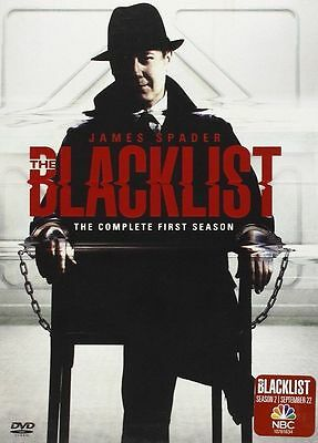 The Blacklist: The Complete First Season One (DVD, 2014, 5-Disc Set) FREE SHIP!!