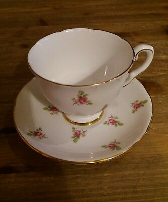 Royal Stafford Ditsy rosebud Teacup and Saucers