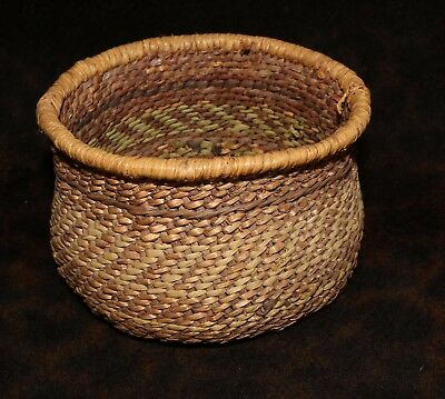 """Hualapai or Walapai Polychrome Twined Indian Basket Bowl 5 1/4""""d x 3 1/4""""h"""