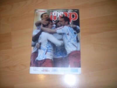 lincoln city v rochdale signed by 12 lincoln city players 2007/08