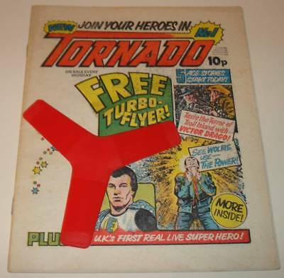 TORNADO Comic # 1 (24 March 1979) with FREE GIFT TURBO-FLYER