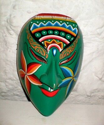 Wooden -  Colourful -  Handpainted Mexican Face Mask