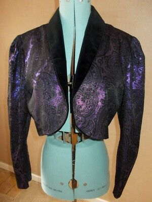Fab Vintage Quorum Ossie Clark Purple Cropped Jacket Prince! 12