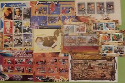 GUINEE 20 BF BLOC Feuillet espace europa chat faune avion neuf MNH obl