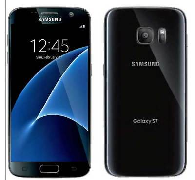 """New Samsung Galaxy S7 G930a AT&T Unlocked 32GB Android Smartphone 5.1"""" 12MP Blk"""