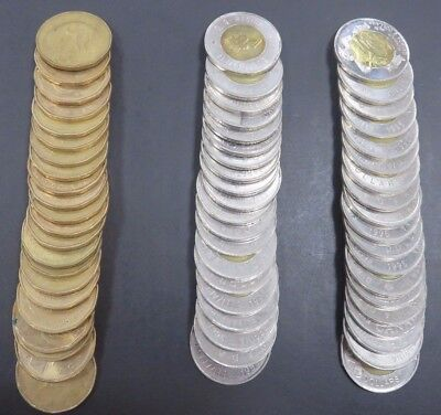 $100 Face Value Canadian $1 & $2 Coins Exchange Rate Canada #358