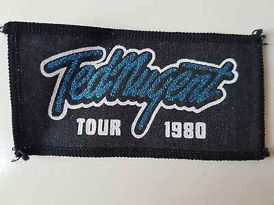 Ted Nugent Vintage 1980 Tour Printed Patch Heavy Metal Rock