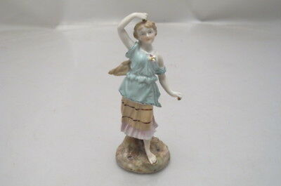 Antique Volkstedt Small Porcelain Girl Figure
