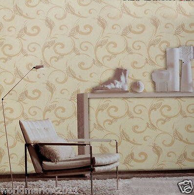 European Non-Woven Printing Breathable 100% Environmental TV Backdrop Wallpaper