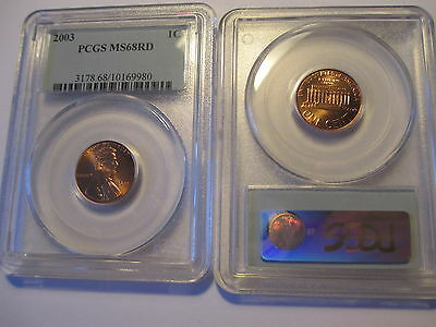 2003  PCGS MS68RD  LINCOLN CENT  Business Strike