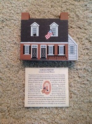 RARE Cat's Meow Village Collectible BARBARA FRITCHIE HOUSE 1997 COLLECTORS HOUSE