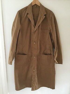 Deadstock Vintage 1960s Men's Sanforized Workwear Overall Coat Coverall By Lybro