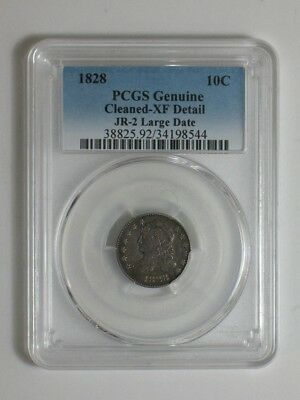 1828 Capped Bust Dime - JR-2 Large Date Variety - PCGS Certified