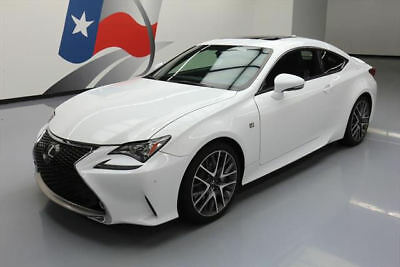 2015 Lexus RC350  2015 LEXUS RC350 COUPE F-SPORT SUNROOF NAV VENT LEATHER #008864 Texas Direct