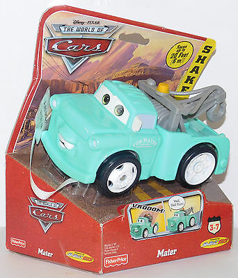 """"""" BRAND NEW MATER """" Young Blue SHAKE n GO CARS Disney Fisher Price Retired New"""