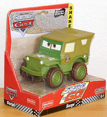 SARGE Army Truck SHAKE n GO CARS Disney Fisher Price Retired New