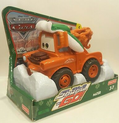 Twinkle Holiday Mater SHAKE n GO CARS Disney Fisher Price New Exclusive Rare