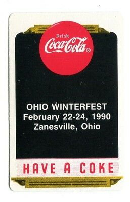 COCA-COLA Clan:  1990 OHIO WINTERFEST - 1 Single Swap / Playing Card