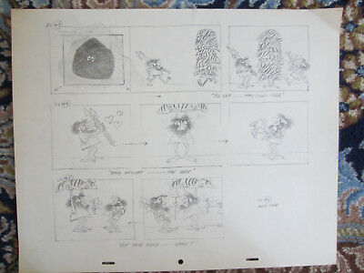 Disney Animation Oscar-winning It's Tough to Be a Bird 2 Sheet Storyboard pencil