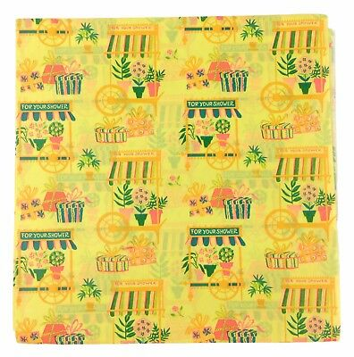 Vintage Yellow Baby Shower Gift Wrap Wrapping Paper Boy Or Girl 26