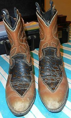 Used Pair Of Child's Acme Cowboy Boots