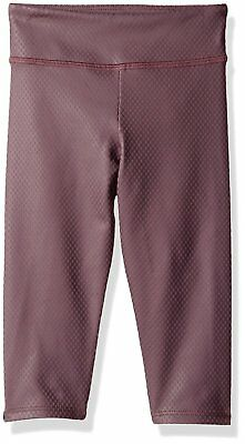 832fb1b237 NWT $44 Kids Girls Onzie Yoga Capri Pant Legging in Purple Fishnet sz 6 - 6x