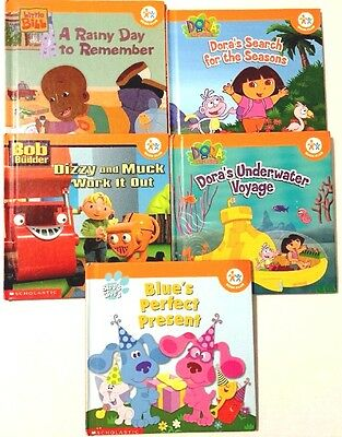 LOT OF 5 Nick Jr Book Club Scholastic Dora Blues Clues Little Bill ...