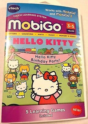 NEW Vtech MobiGo Learning Software - Hello Kitty Birthday Party! Ages 3-5 Years