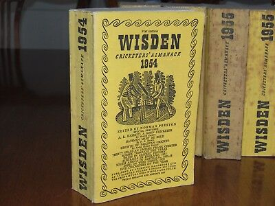 Wisden Cricketers' Almanack 1954 linen covered edition EXCELLENT condition