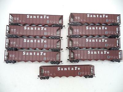 Roundhouse Ho lot of 9 hoppers, 8 with coal load, Santa Fe, drb3