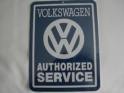 Vw Volkswagen Metal Authorized Service Logo Sign Bus Bug Type2 Van Beetle Type3