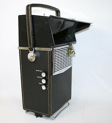 From 1959 Philco H-2010 Black Safari - First Transistor Tv In The World Vintage