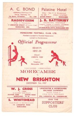 1957 Morecambe v New Brighton programme