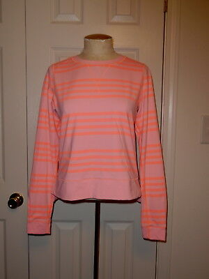 Lululemon Athletica Pink Long Sleeve Athletic Yoga Warm Up Crew Top Shirt Size 6