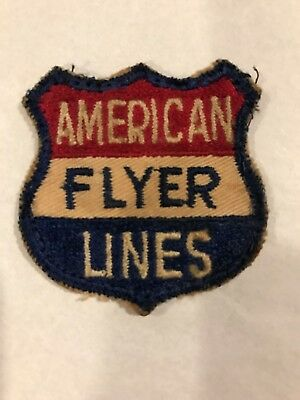 Rare Vintage American Flyer Lines Patch Toy Model Railroad Advertisement Train