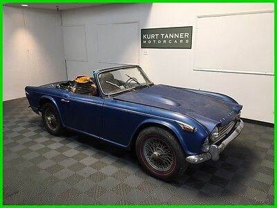 1965 Triumph TR4A Roadster TRIUMPH TR4A IRS. VIN # CTC 50011. CAR #6. POSSIBLY EARLIEST KNOWN SURVIVING.