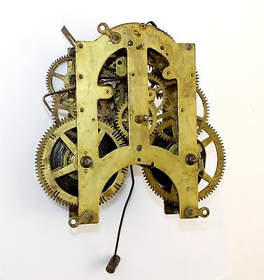 Ansonia 8 Day Time And Strike Clock Movement - For Parts Or Repair  - Kc133