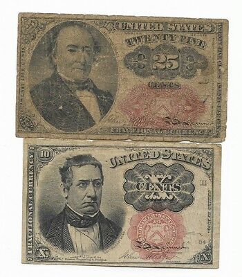 10, & 25 Cents Fractional Currency, Fifth Issue