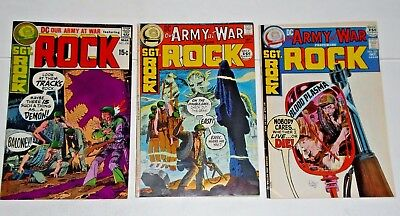 Our Army At War SGT. Rock #230,236,237 comic lot (VF)