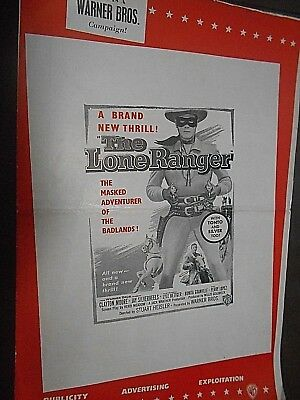 English  6 Page Pressbook            The Lone Ranger     1956