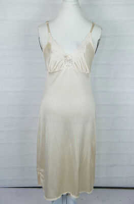 Womans MAIDEN FORM WISE BUYS Beige Ivory Full Slip with Lace Trim Size 36 L nude