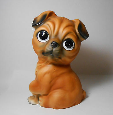 Vintage Japan Norleans Ceramic Puppy Dog Big Sad Eyes Boxer