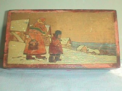 RUSSIAN Wood BOX Art Decorated