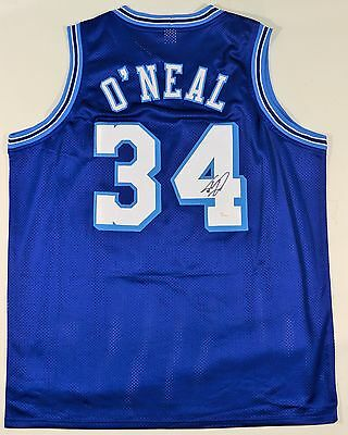 Shaquille O'neal Signed/autographed Lakers Custom Blue Jersey Jsa Witnessed