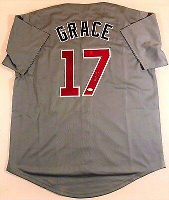 Mark Grace Signed/autographed Cubs Custom Grey Jersey Jsa W Authenticated