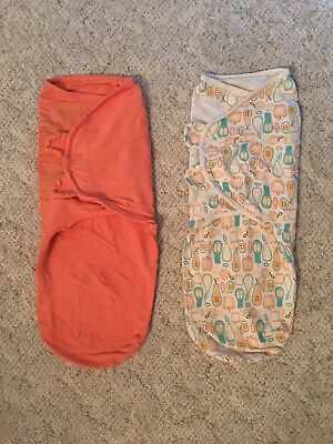 Summer brand Swaddle Me - Lot of 2 - Size Large - Swaddles for Girl or Boy