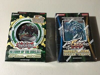 YUGIOH RETURN OF THE DUELIST & HIDDEN ARSENAL Special Edition Factory SEALED
