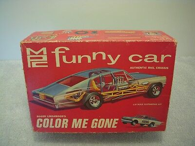 "Mpc~Roger Lindamood's ""color Me Gone""~Funny Car~#700-200~Complete(?)~Rare & Htf!"