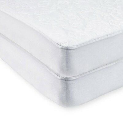 Koala Baby Essentials 2 Pack Waterproof Fitted Crib Mattress Covers - White