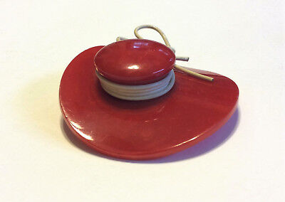 old BAKELITE RED HAT Pin / Brooch vintage antique JEWELRY
